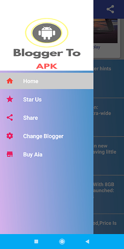 Blogger 2 Apk with posts in slider  Paid Aia - Kodular Store