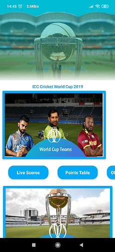 ICC Cricket World Cup 2019 - Aia + App With Live Scores (API) [PAID