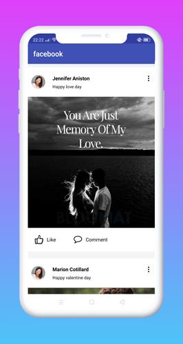 Facebbok like app screenshots
