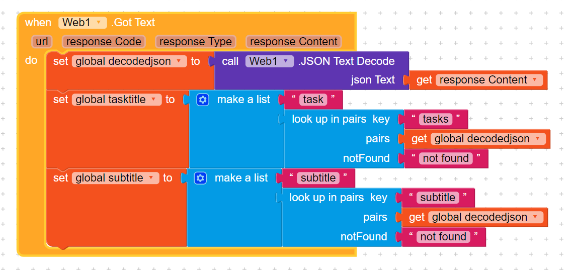 Parse arrays of json data - Discuss - Kodular Community