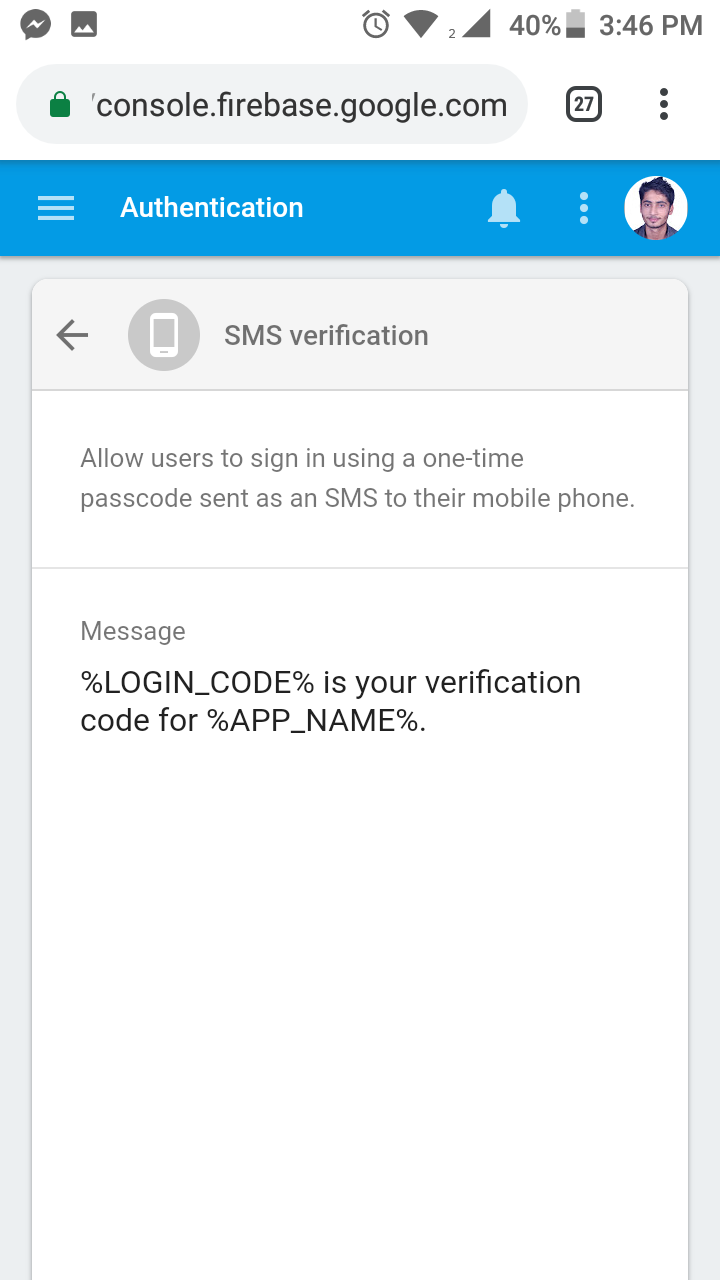 Firebase Auth