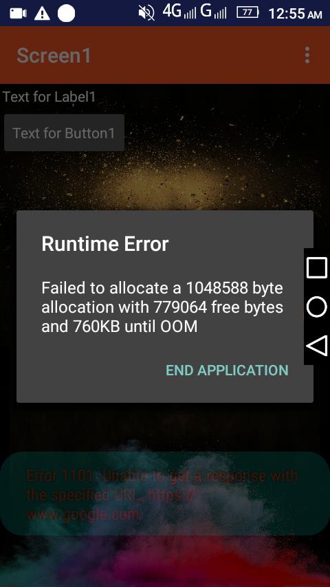 Why this error come? - Discuss - Kodular Community