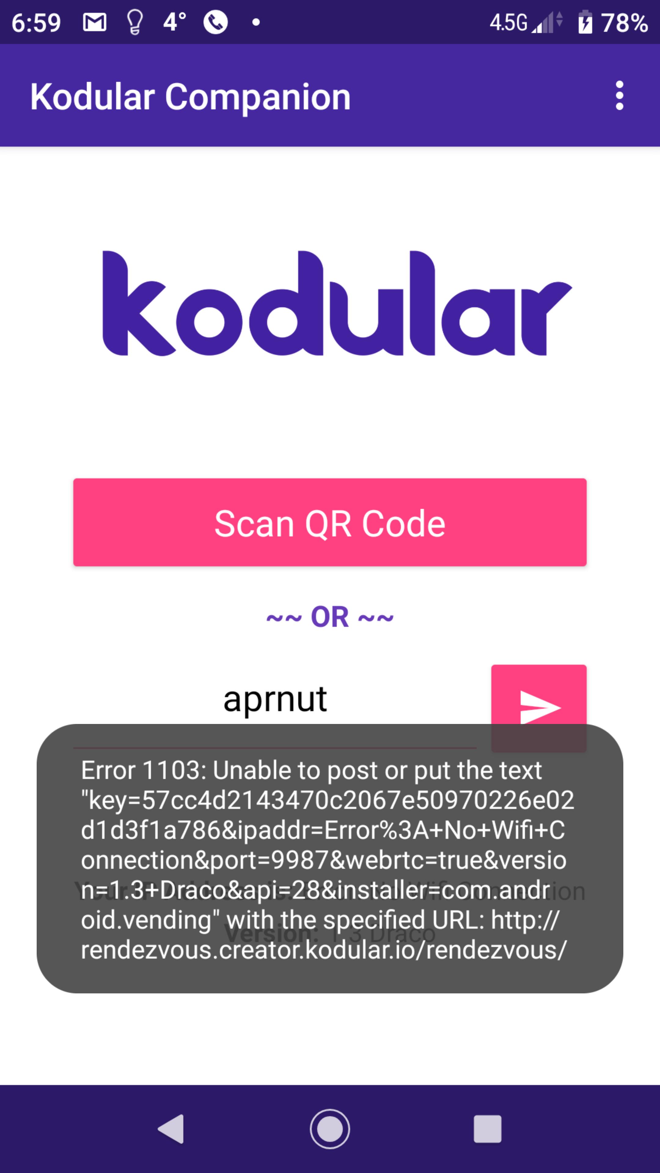 Error 1103 after updating companion app - Bugs - Kodular