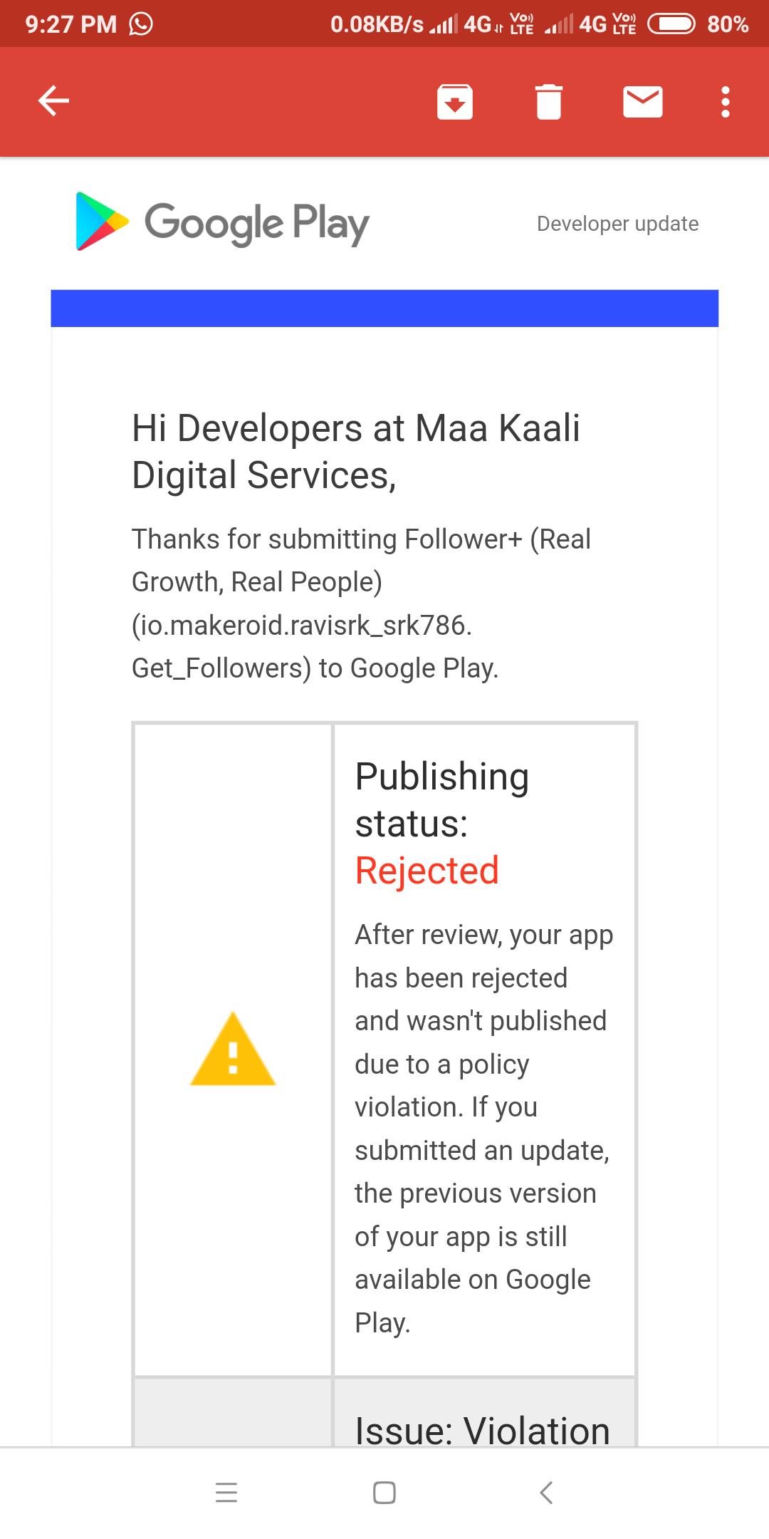 Google Play - App Rejected - Discuss - Kodular Community