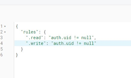 Firebase Rules Not Null