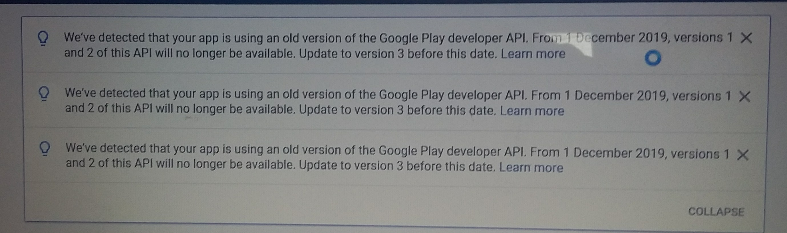 Outdated Google Play Developer API Version - Discuss