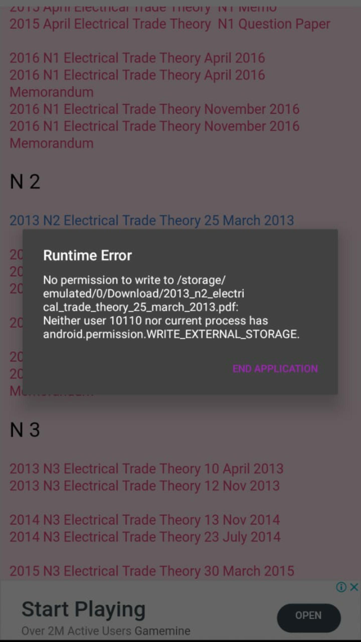 Android Permission Write_External_Storage runtime error - no permission to write to storage - discuss