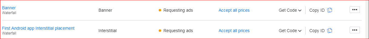 Facebook Audience Network - Adds Requesting Problem