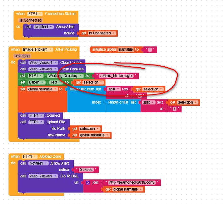 FTP choose working directory not working - Discuss - Kodular