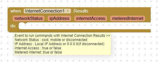 InternetConnection.Results - Event - Parameters Description