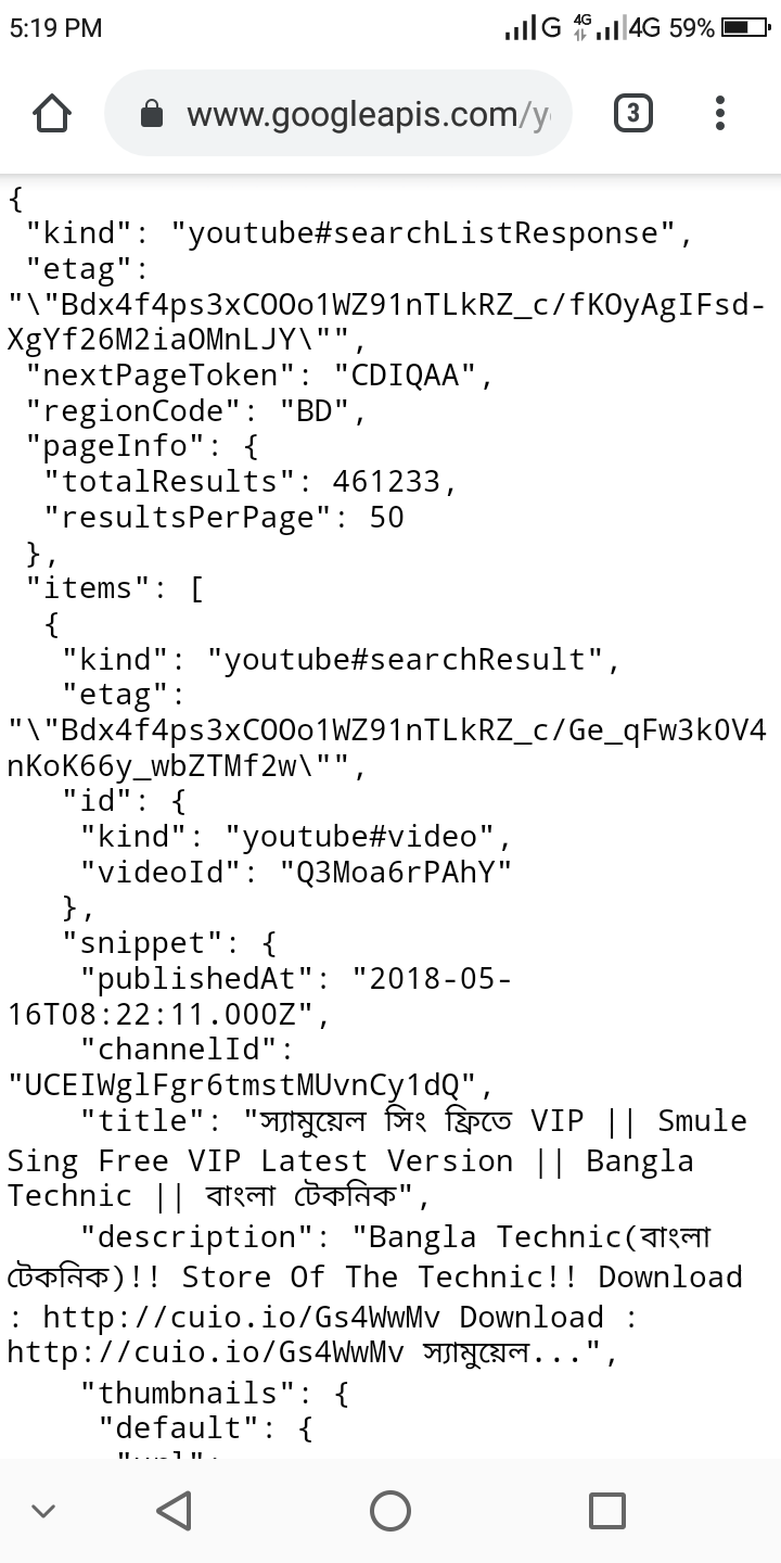 How to Get video id from youtube api json - Discuss - Kodular Community
